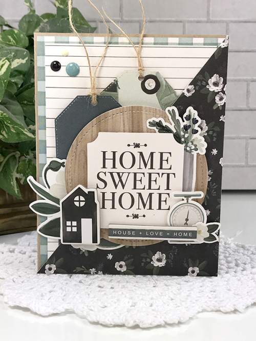 "Home Sweet Home card by Tya Smith for #CartaBellaPaper featuring the ""Home Again"" Collection"