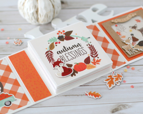 "Hello Fall Mini Accordion Album by Anya Lunchenko for #EchoParkPaper featuring the ""My Favorite Fall"" Collection"