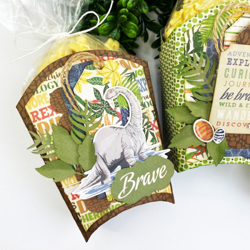 """Treat Boxes by Dorymar Perez featuring the """"Dinosaurs"""" collection by #CartaBellaPaper"""