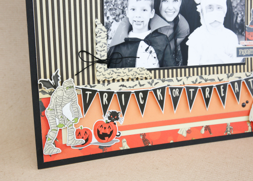 "Halloween layout by Wendy Sue Anderson featuring the ""Happy Halloween"" collection by #CartaBellaPaper"