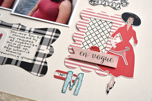"Fashionista layout by Suzanna Lee featuring the ""En Vogue"" collection by #CartaBellaPaper"