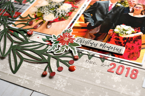 "Two Page Holiday Layout by Suzanna Lee featuring the ""Christmas Market"" collection by #CartaBellaPaper"