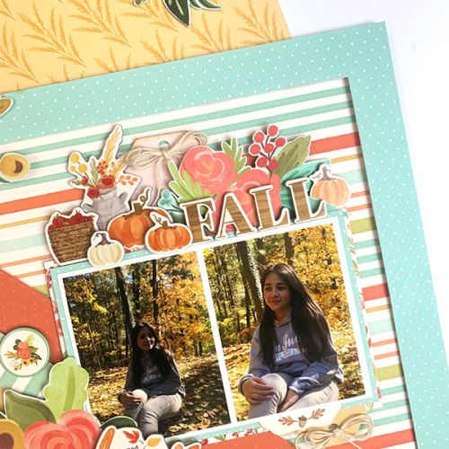 "Fall Leaves layout by Dorymar Perez for #CartaBellaPaper featuring the ""Fall Market"" collection"