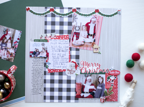 "Santa Letter Layout by Megan Hoeppner featuring the ""Merry Christmas"" collection by #CartaBellaPaper"