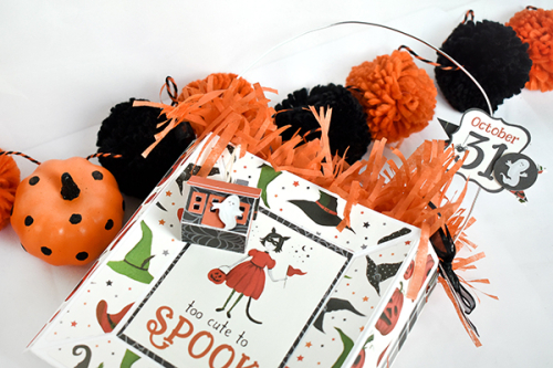 "Too Cute To Spook Gift Bag by Michelle Zerull for #EchoParkPaper with the ""Trick or Treat"" Collection"