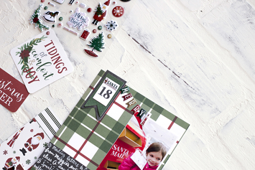 """Christmas Themed Travelers Notebook by Megan Hoeppner featuring the """"Here Comes Santa Claus"""" collection by #EchoParkPaper"""