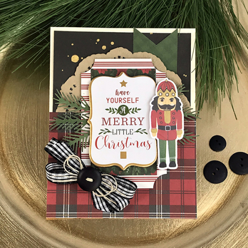 "Holiday Nutcracker Card by Tya Smith for #EchoParkPaper with the ""Here Comes Santa Claus"" collection"