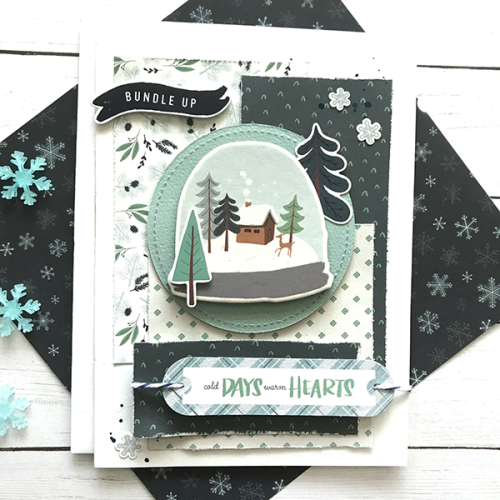 "Winter card by Tya Smith featuring the ""Snow Much Fun"" Collection by #CartaBellaPaper"