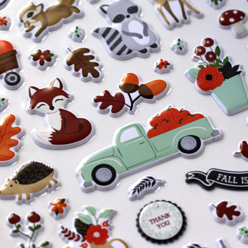 My Favorite Fall Puffy Stickers by #EchoParkPaper