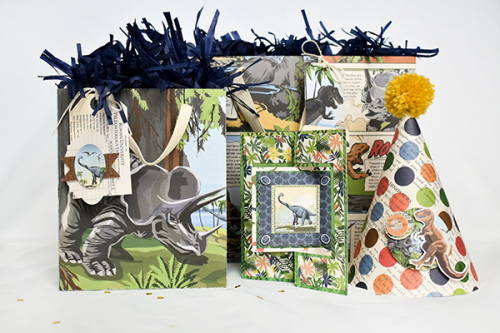 """Dinosaurs"" party set by Michelle Zerull for #CartaBellaPaper"