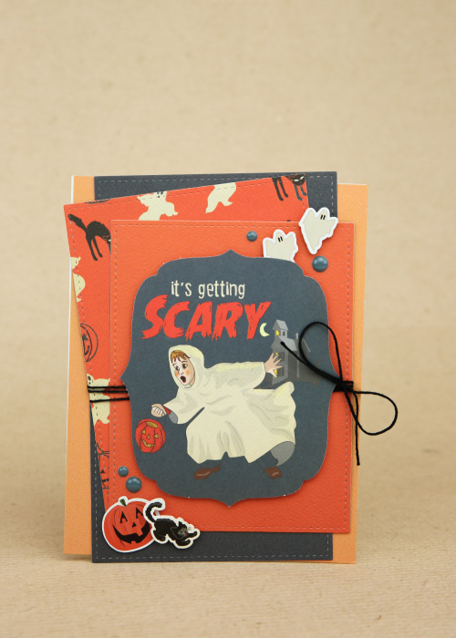 "Scary Halloween card by Wendy Sue Anderson using the ""Happy Halloween"" collection by #CartaBellaPaper"