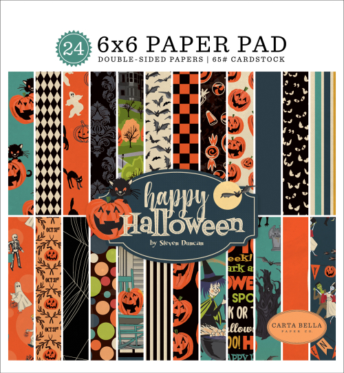 Happy Halloween 6x6 Paper Pad by #CartaBellaPaper