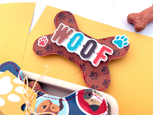 "Dog treat project by Lydia Cost for #EchoParkPaper featuring the ""I Love My Dog"" Collection Kit"
