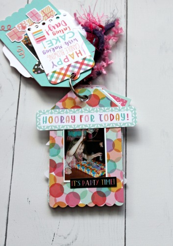 "Mini Album Tag Book by Michelle Gallant for #EchoParkPaper featuring the ""It's Your Birthday Girl"" Collection"
