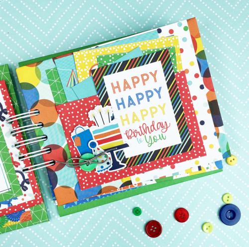 It's Your Birthday Boy Mini Album by Dorymar Perez for #EchoParkPaper