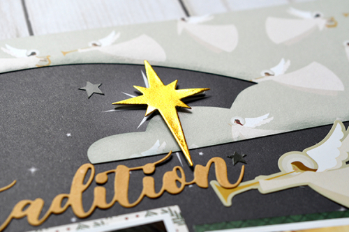 "Christmas Tradition layout by Suzanna Lee featuring the ""Away in a Manger"" collection by #EchoParkPaper"
