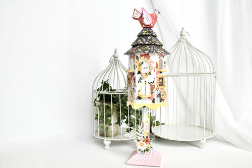 Oh Happy Day Birdhouse by Michelle Zerull for #CartaBellaPaper