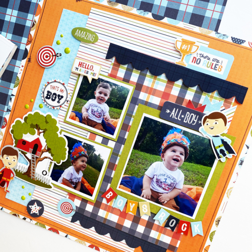 """Boys Rock layout by Dorymar Perez for #EchoParkPaper featuring the """"All Boy"""" collection"""