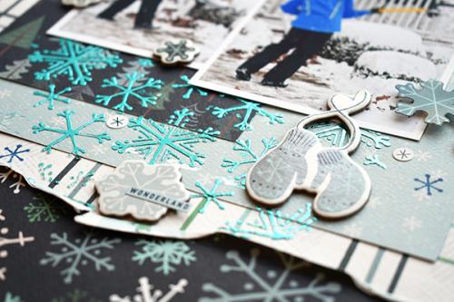 "Snow Much Work Layout by Suzanna Lee featuring the ""Snow Much Fun"" Collection by #CartaBellaPaper"