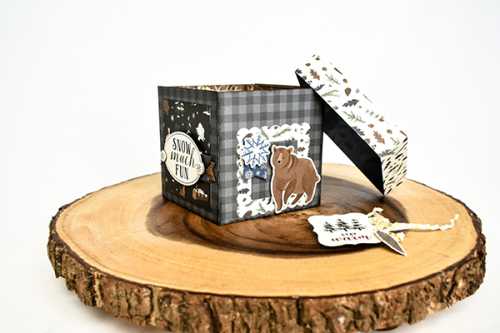 """Stackable gift boxes by Michelle Zerull featuring the """"Warm & Cozy"""" collection by #EchoParkPaper"""