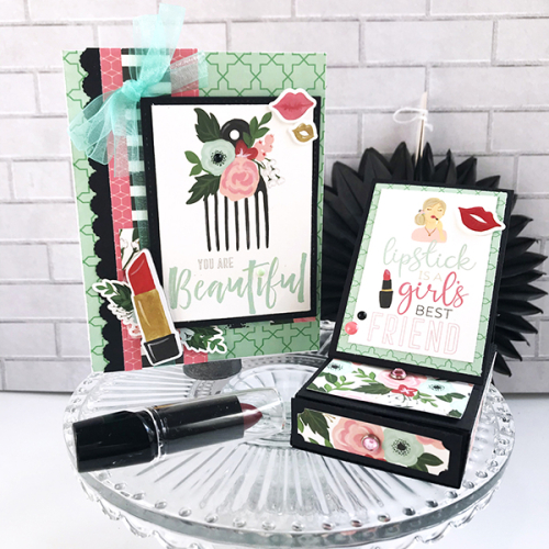 "Card and Gift Card Holder Set by Tya Smith for #EchoParkPaper featuring the ""Salon"" collection"