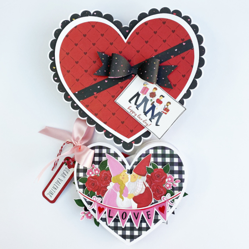 "Mini album and gift box by Dorymar Perez for #EchoParkPaper with the ""Be My Valentine"" Collection"