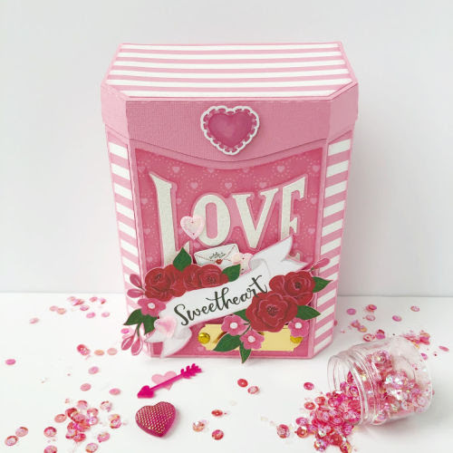 Valentine Mailbox and Card Set by Michelle Houx for #EchoParkPaper featuring the #BeMyValentine collection1