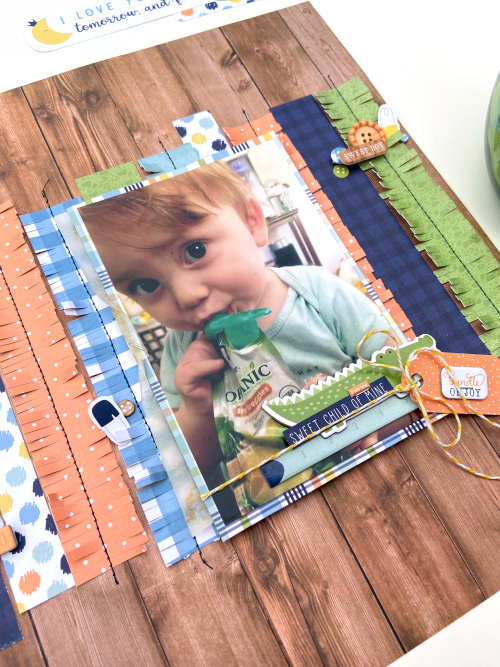 """""""Sweet Child of Mine"""" Baby Boy Layout by Lydia Cost for #EchoParkPaper"""
