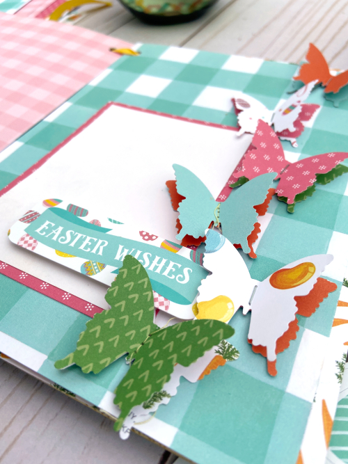 """Altered Easter Book by Lydia Cost for #EchoParkPaper featuring the """"I Love Easter"""" Collection"""