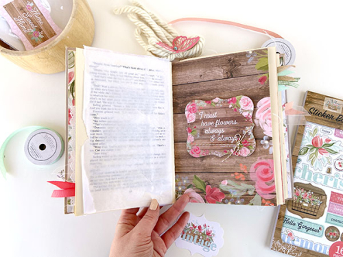 Farmhouse Market Altered Book by Lydia Cost for #CartaBellaPaper