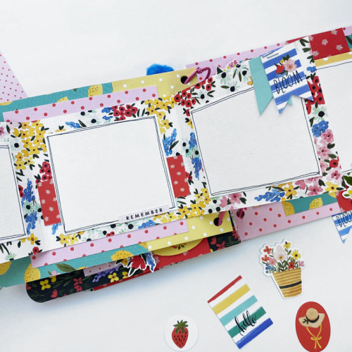 """Spring mini album by Dorymar Perez for #CartaBellaPaper featuring the """"Oh Happy Day"""" collection"""