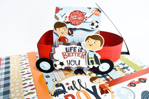 """Wagon and Treat Box Project by Michelle Zerull for #EchoParkPaper featuring the """"All Boy"""" Collection"""