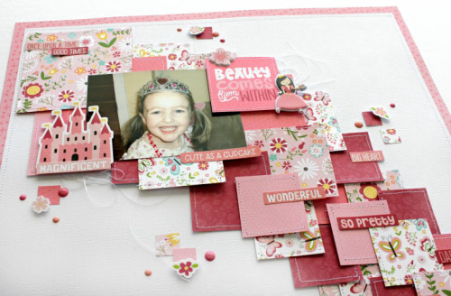 Beauty comes from within layout by Michelle Gallant for #EchoParkPaper
