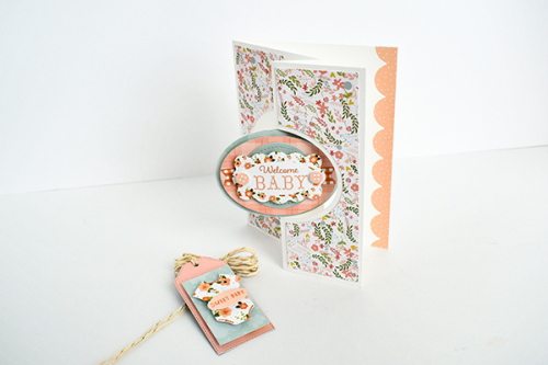 "Baby Girl Stationery Set by Michelle Zerull featuring the ""Baby Girl"" collection by #EchoParkPaper"