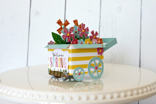 """Spring Wagon by Michelle Gallant for #EchoParkPaper with the """"I Love Spring"""" Collection"""