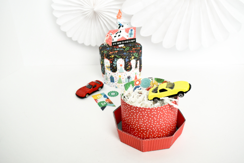 It's Your Birthday Boy 3D Paper Birthday Cakes by Michelle Zerull for #EchoParkPaper