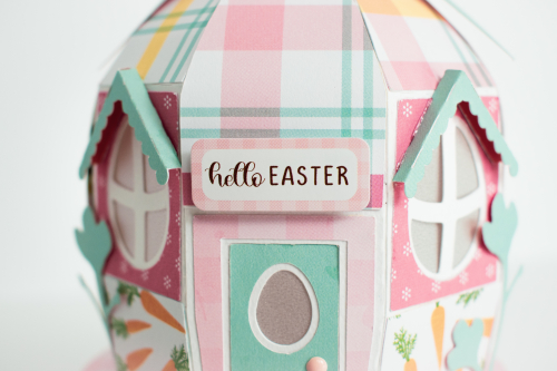 "Easter Egg House Box by Michelle Zerull for #EchoParkPaper featuring the ""I Love Easter"" collection"