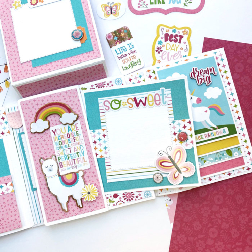 """Beautiful Girl Flip Book by Dorymar Perez for #EchoParkPaper featuring the """"All Girl"""" Collection"""
