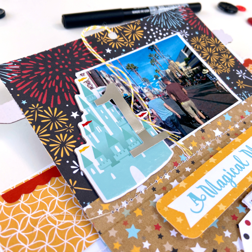 "Interactive Disneyland layout by Lydia Cost for #EchoParkPaper featuring the ""Remember the Magic"" Collection"