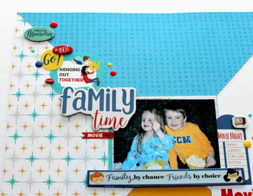 Family Night layout by Michelle Gallant for #EchoParkPaper