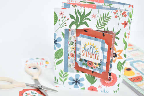 """Double Lever """"Summertime"""" Card by Michelle Zerull for #EchoParkPaper"""
