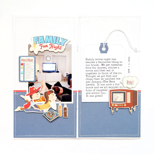 Family Night Travelers Notebook Spread by Sheree Forcier for #CartaBellaPaper
