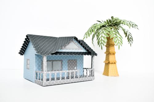 Carta Bella Dots 3D Beach House by Michelle Zerull for #CartaBellaPaper