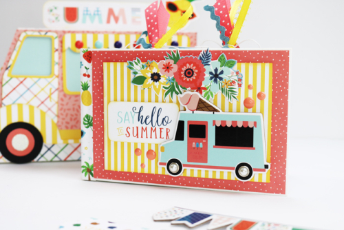 """Ice Cream Truck Treat Box and Mini Album Combo by Dorymar Perez for #EchoParkPaper featuring the """"Summertime"""" collection"""
