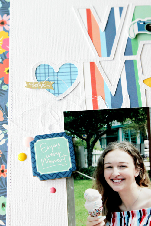 "Vacay Mode layout by Michelle Gallant featuring the ""Dive Into Summer"" collection by #EchoParkPaper"
