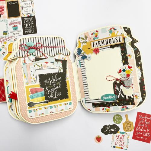 Farmhouse Kitchen Mason Jar Mini Album by Dorymar Perez for #EchoParkPaper