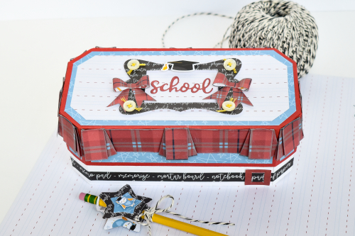 "School Uniform Pencil Box by Michelle Zerull for #EchoParkPaper featuring the ""School Rules"" collection"