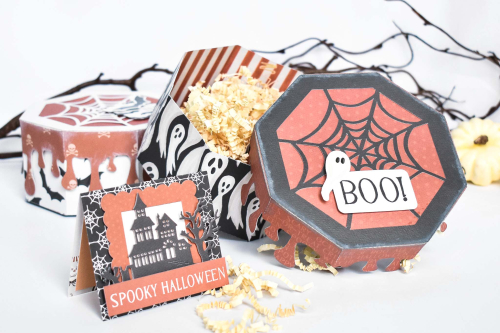 "Halloween Boxes by Michelle Zerull for #CartaBellaPaper featuring the ""Halloween Market"" Collection"