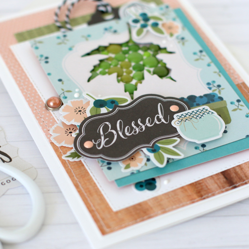 Product Feature Week: Enamel Dots - layout and card by Anya Lunchenko for #EchoParkPaper and #CartaBellaPaper