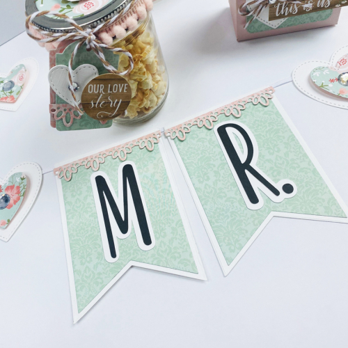"""Wedding Party Decor by Dorymar Perez featuring Designer Dies and """"Our Wedding"""" by #EchoParkPaper"""